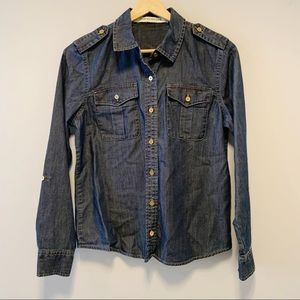 Jones NY Jeans   Denim Long Sleeve Top